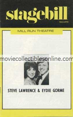 Steve Lawrence & Eydie Gorme Stagebill